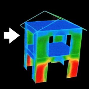 耐震シミュレーション ツーバイフォー住宅