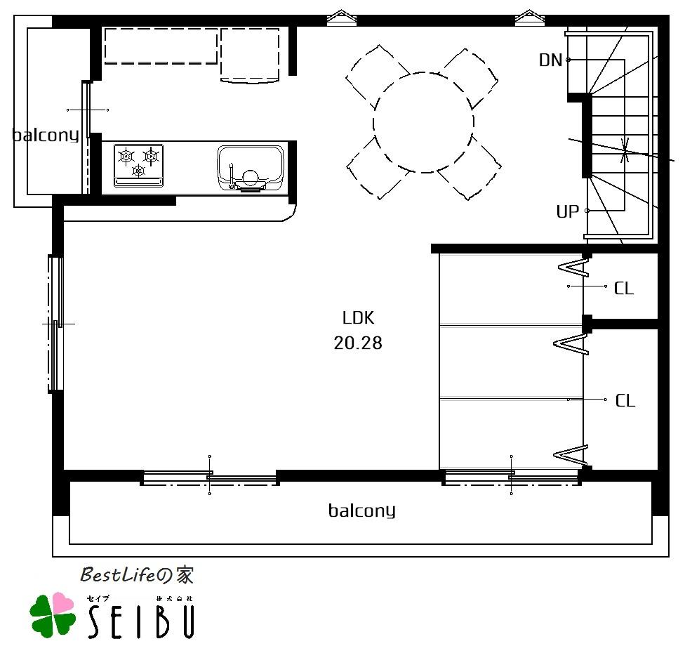 長崎市,分譲,土地,新築,,SEIBU,セイブ,ベストライフの家3階建て基本プラン