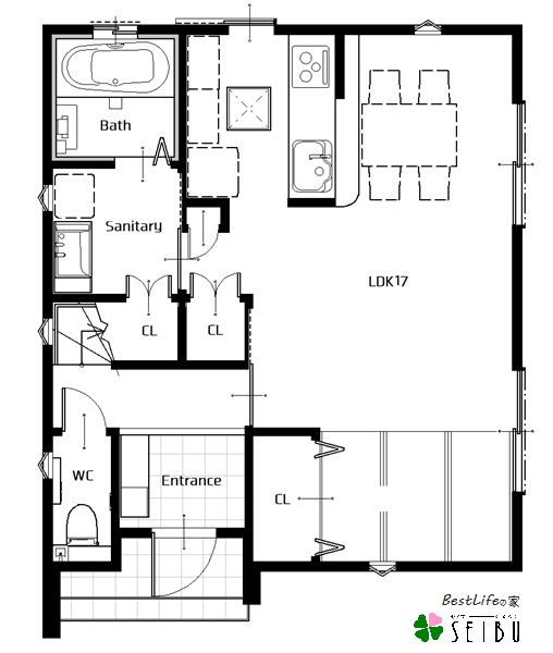 長崎市,分譲,土地,新築,,SEIBU,セイブ,ベストライフの家平面図